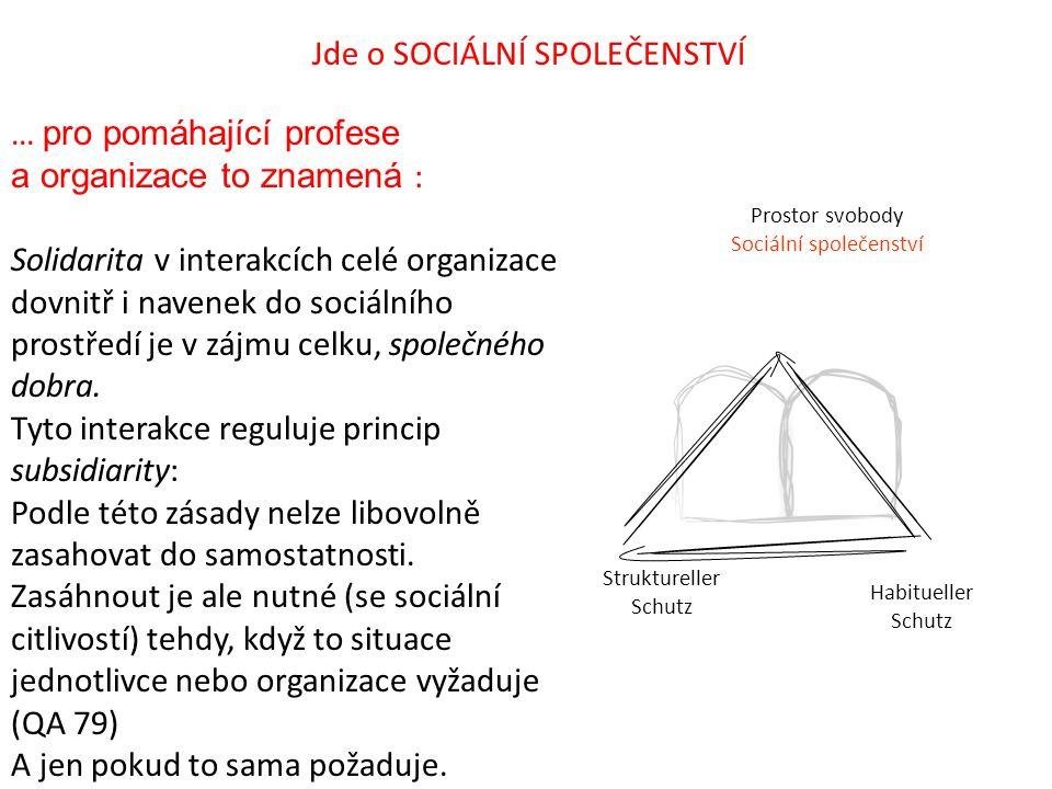 Jde o SOCIÁLNÍ SPOLEČENSTVÍ
