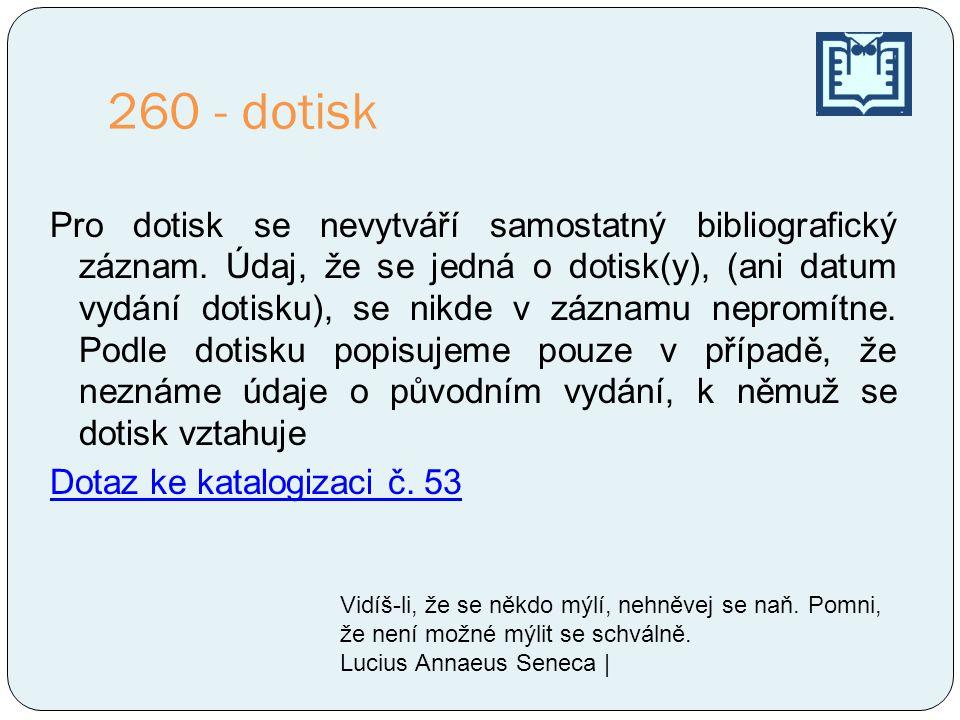 260 - dotisk