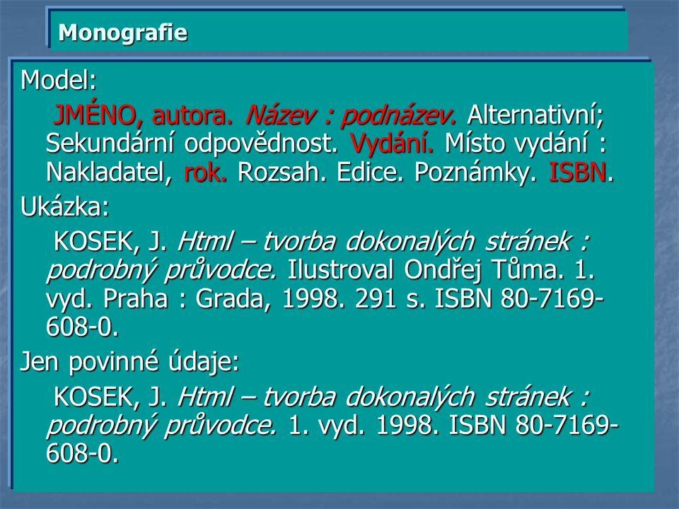 Monografie Model:
