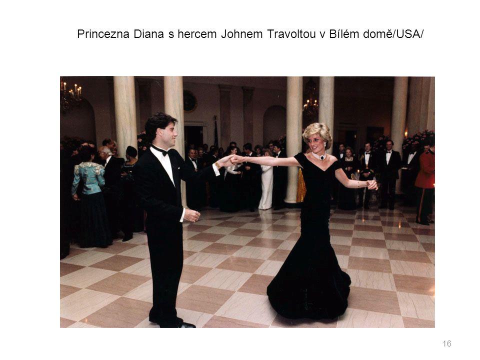 Princezna Diana s hercem Johnem Travoltou v Bílém domě/USA/