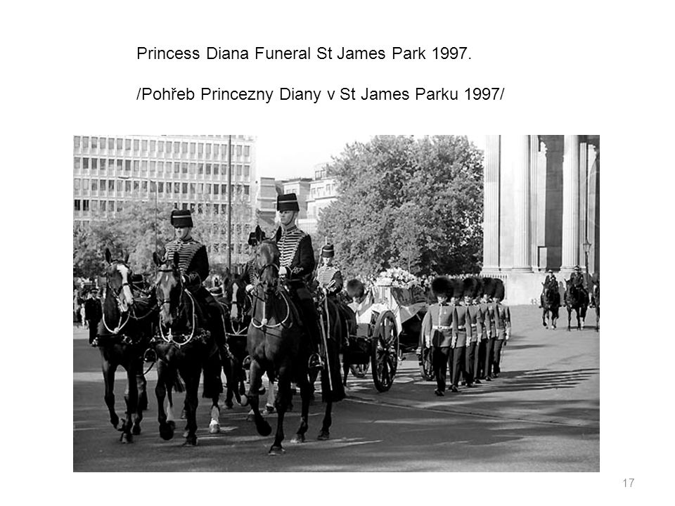 Princess Diana Funeral St James Park 1997.