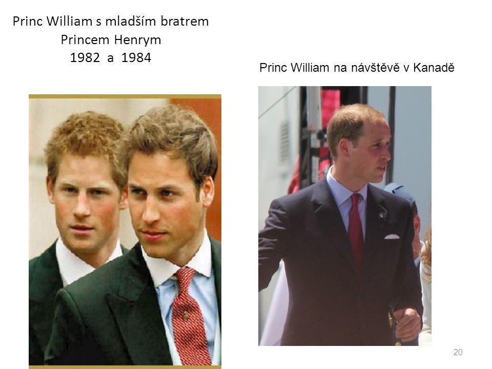 Princ William s mladším bratrem Princem Henrym 1982 a 1984