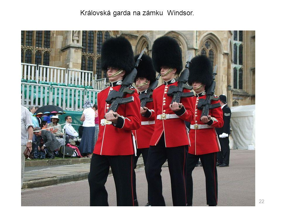 Královská garda na zámku Windsor.