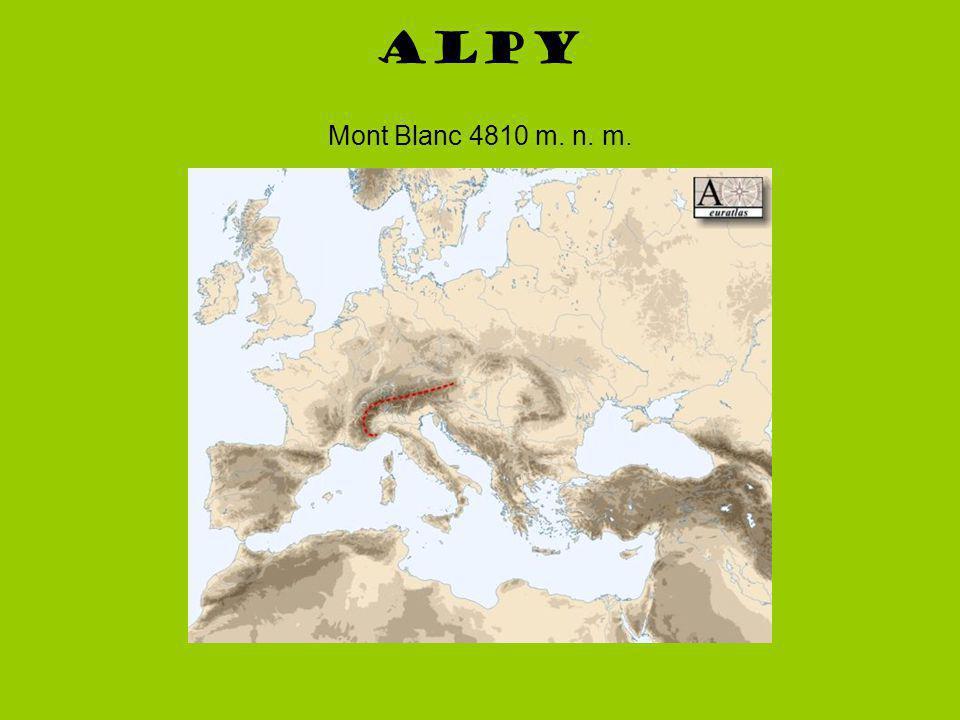 Alpy Mont Blanc 4810 m. n. m.