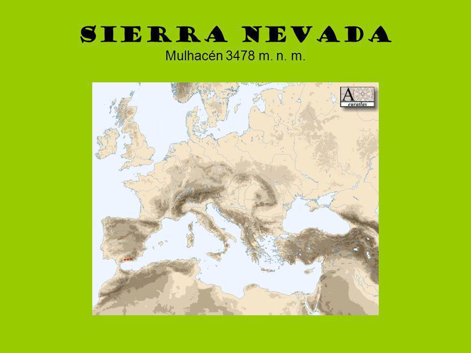 Sierra Nevada Mulhacén 3478 m. n. m.