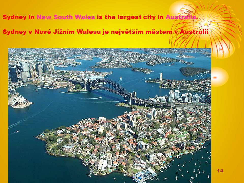 Sydney in New South Wales is the largest city in Australia.