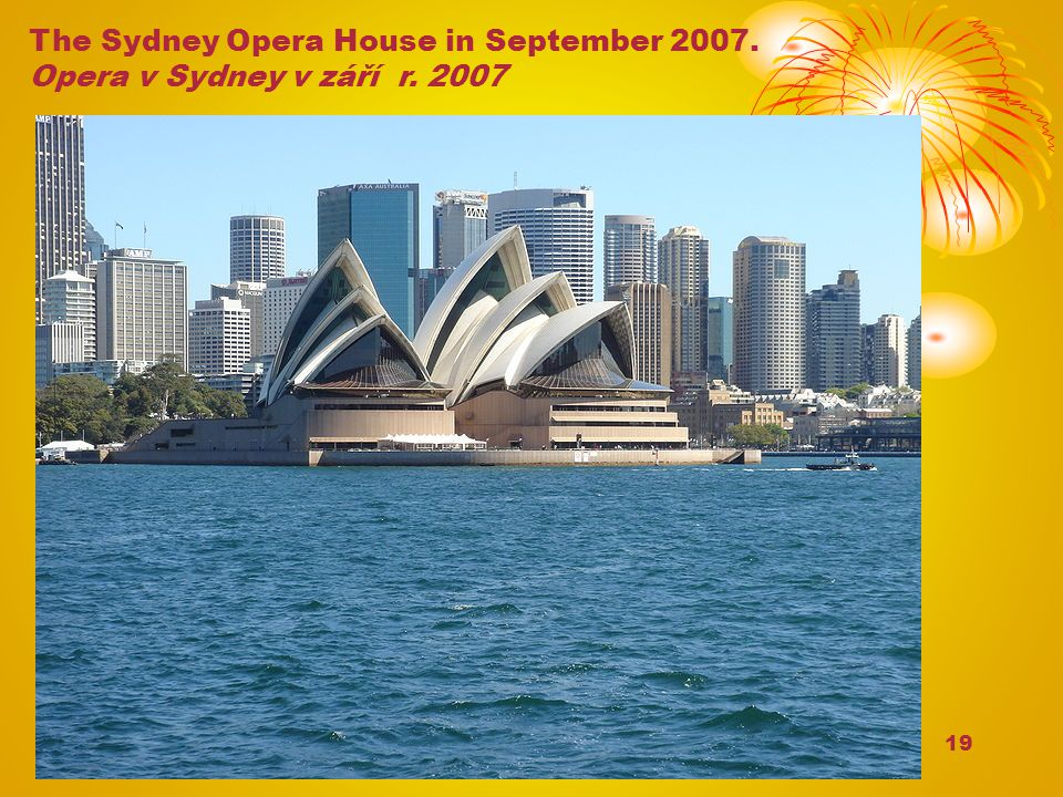 The Sydney Opera House in September 2007.