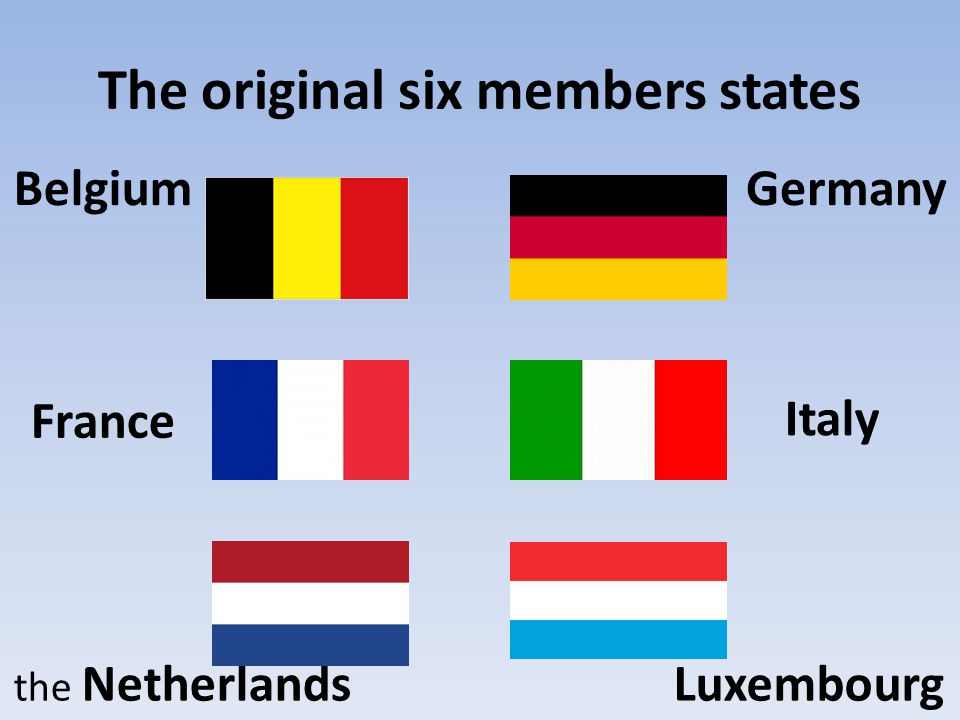 The original six members states