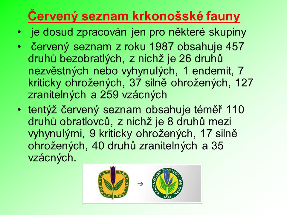 Červený seznam krkonošské fauny