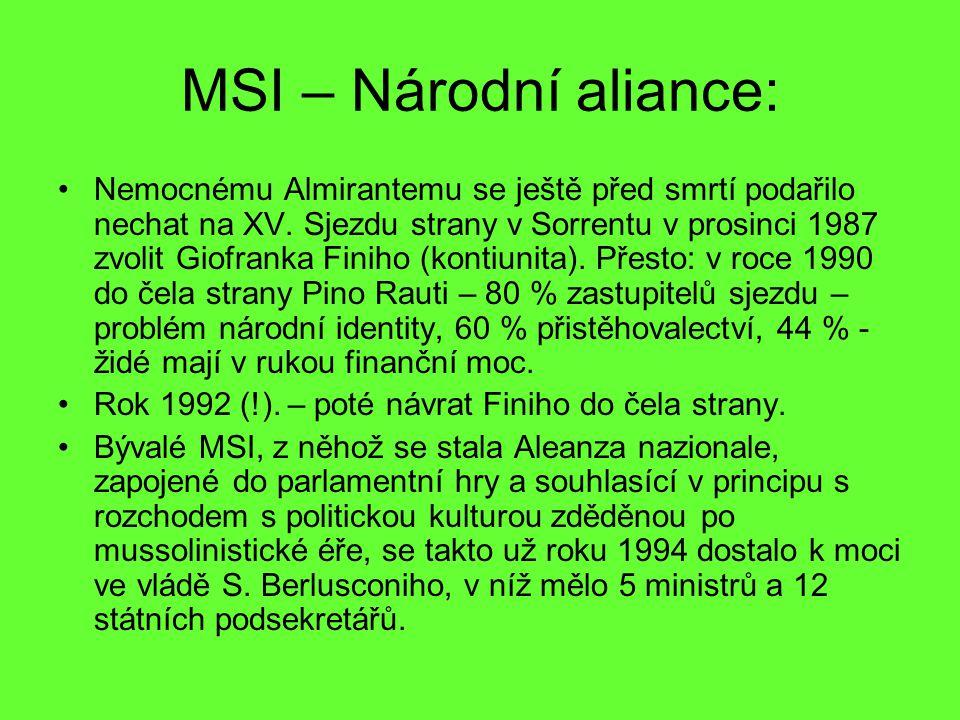 MSI – Národní aliance: