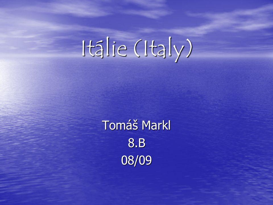 Itálie (Italy) Tomáš Markl 8.B 08/09