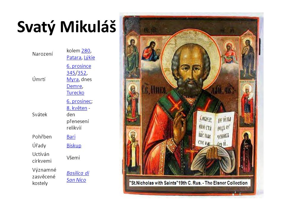 Svatý Mikuláš Narození kolem 280, Patara, Lýkie Úmrtí