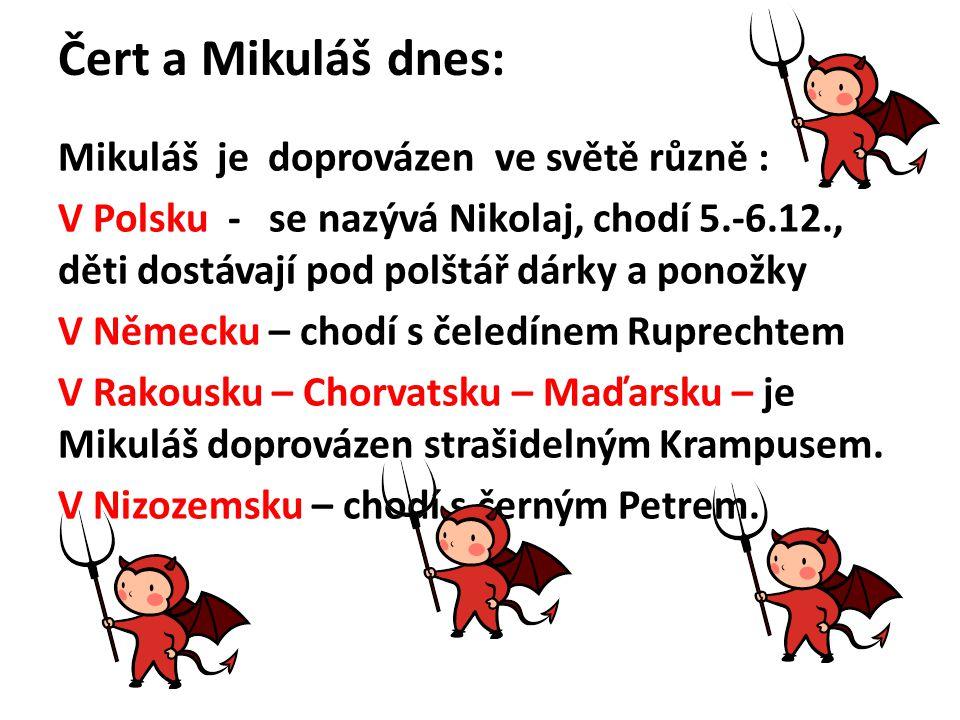 Čert a Mikuláš dnes: