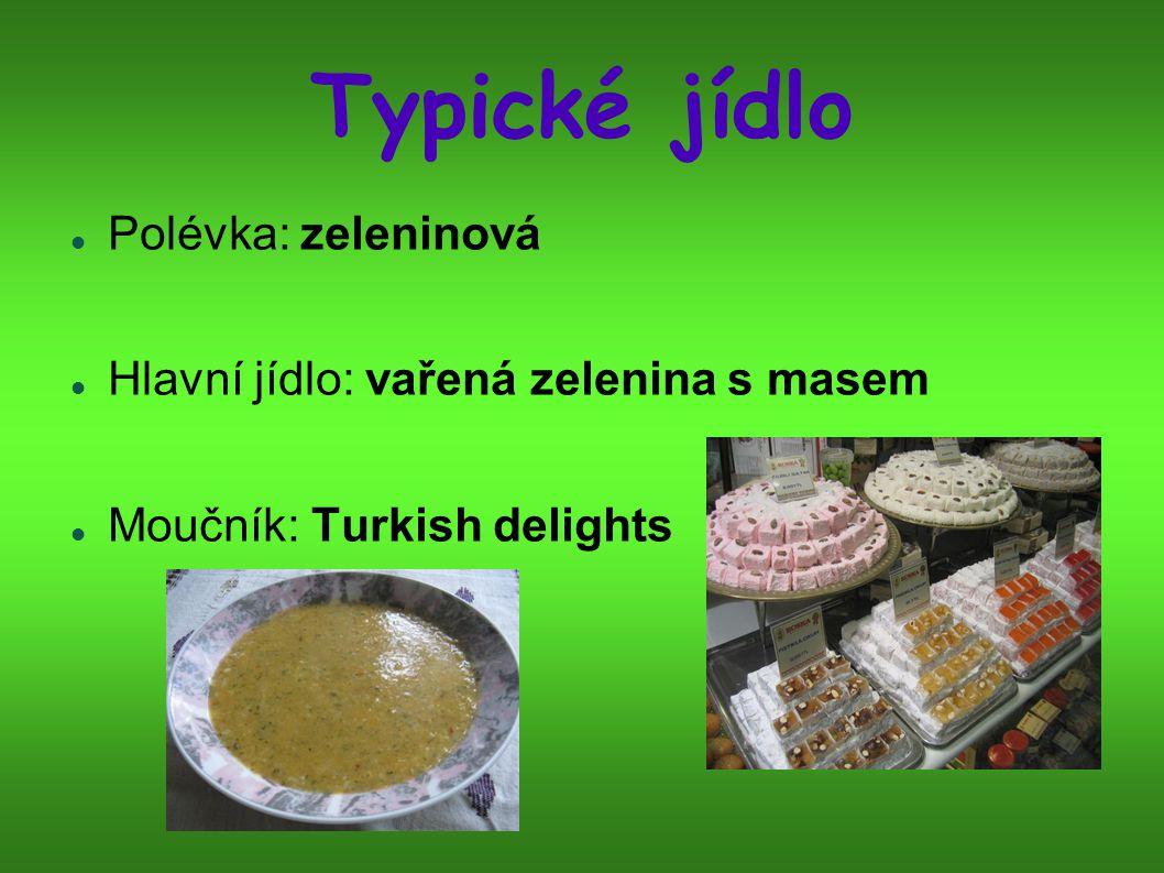 Typické jídlo Polévka: zeleninová