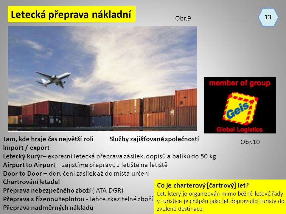 Letecká přeprava nákladní