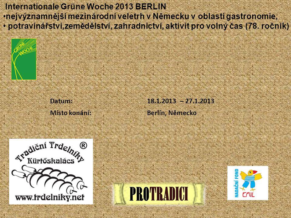 Internationale Grüne Woche 2013 BERLIN