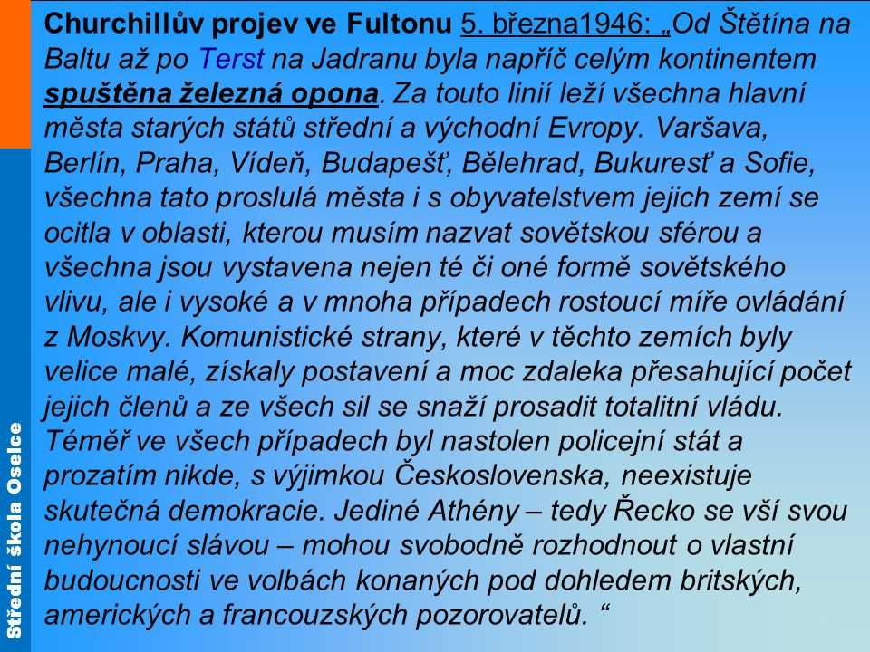 Churchillův projev ve Fultonu 5