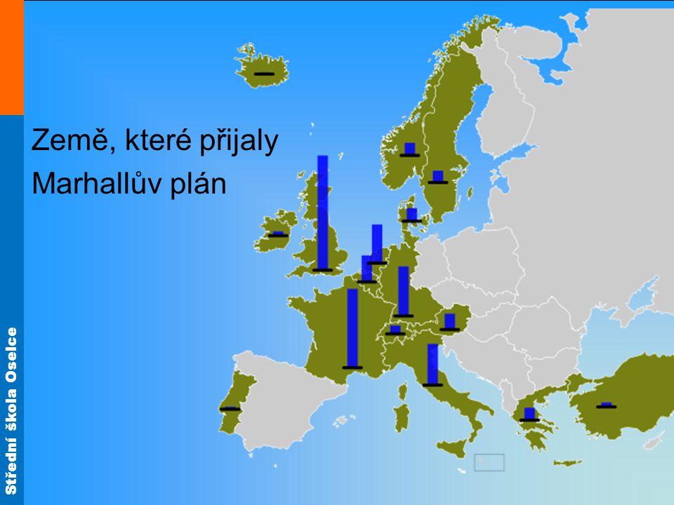 Země, které přijaly Marhallův plán