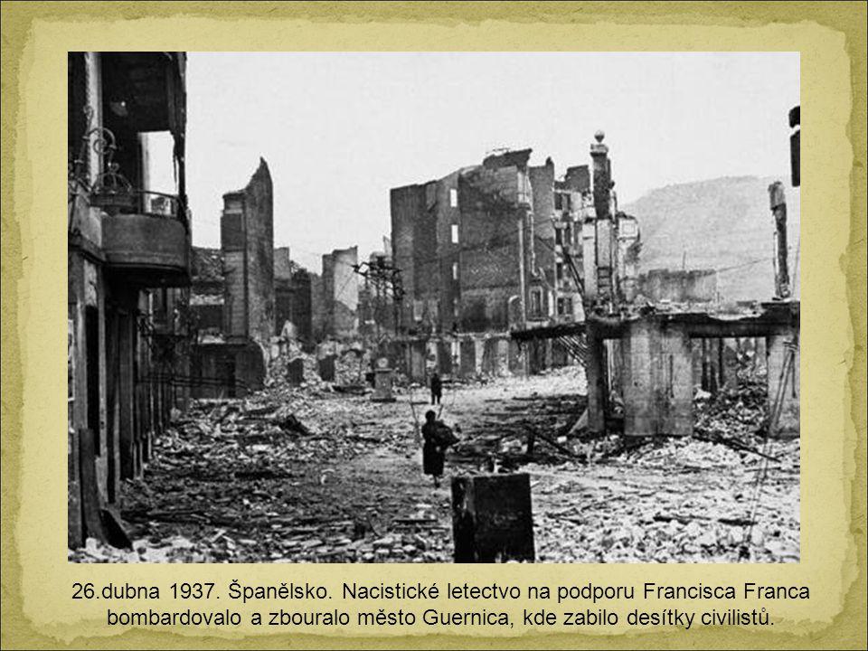 26.dubna 1937. Španělsko.