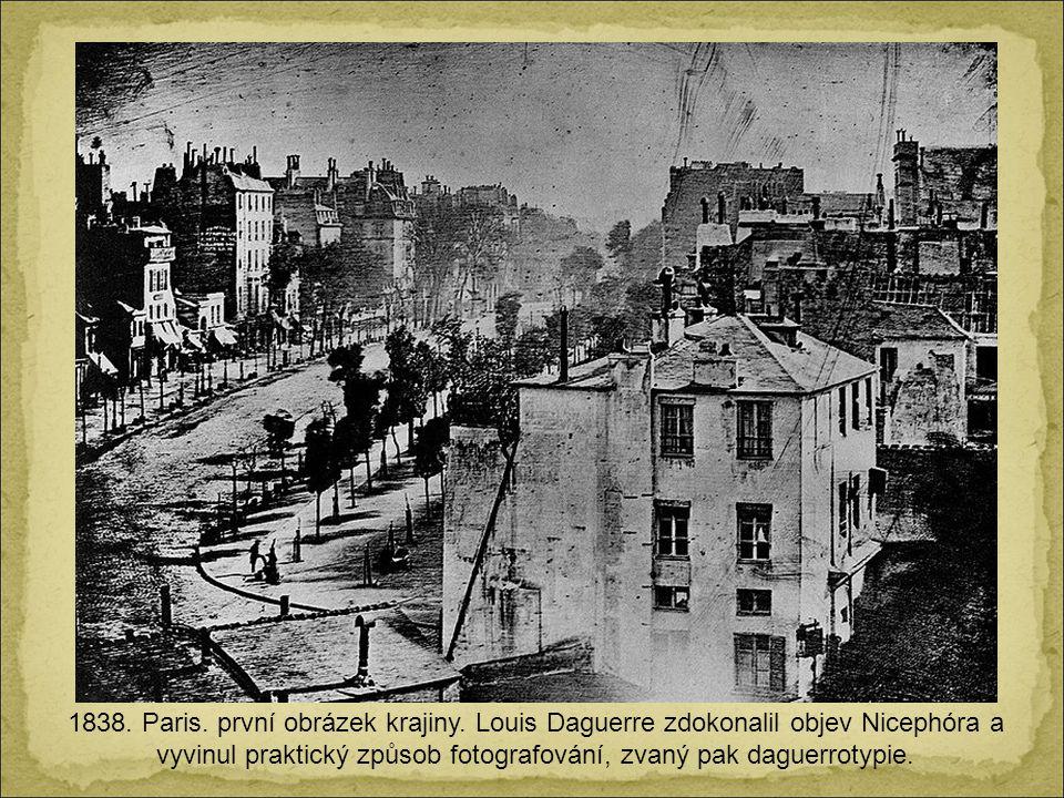 1838. Paris. první obrázek krajiny