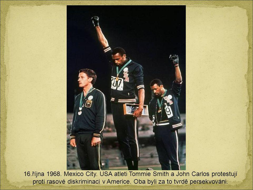 16.října 1968. Mexico City.