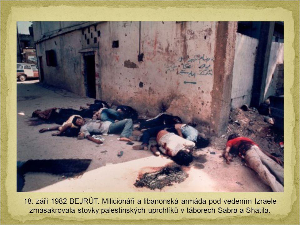 18. září 1982 BEJRÚT.