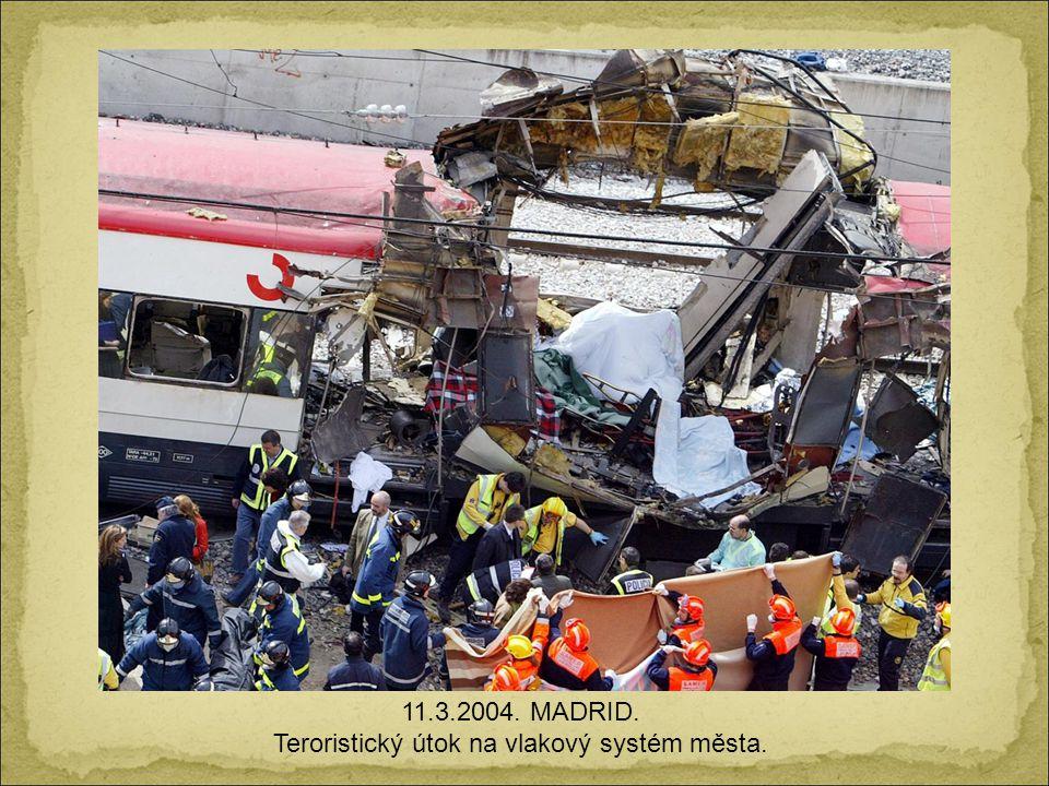 Teroristický útok na vlakový systém města.