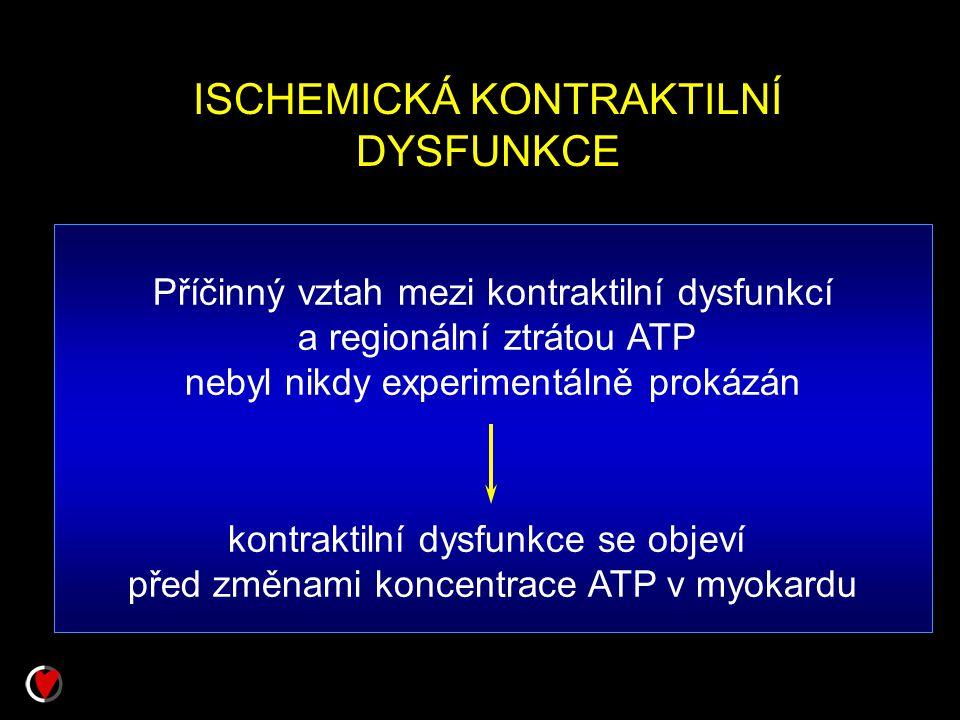 ISCHEMICKÁ KONTRAKTILNÍ DYSFUNKCE
