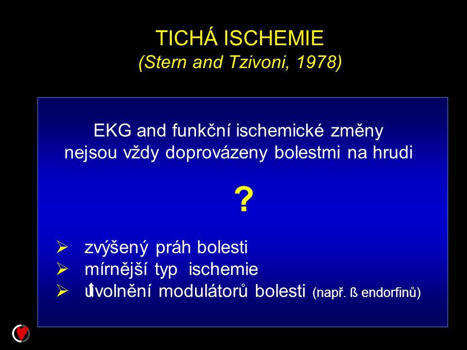 TICHÁ ISCHEMIE (Stern and Tzivoni, 1978)