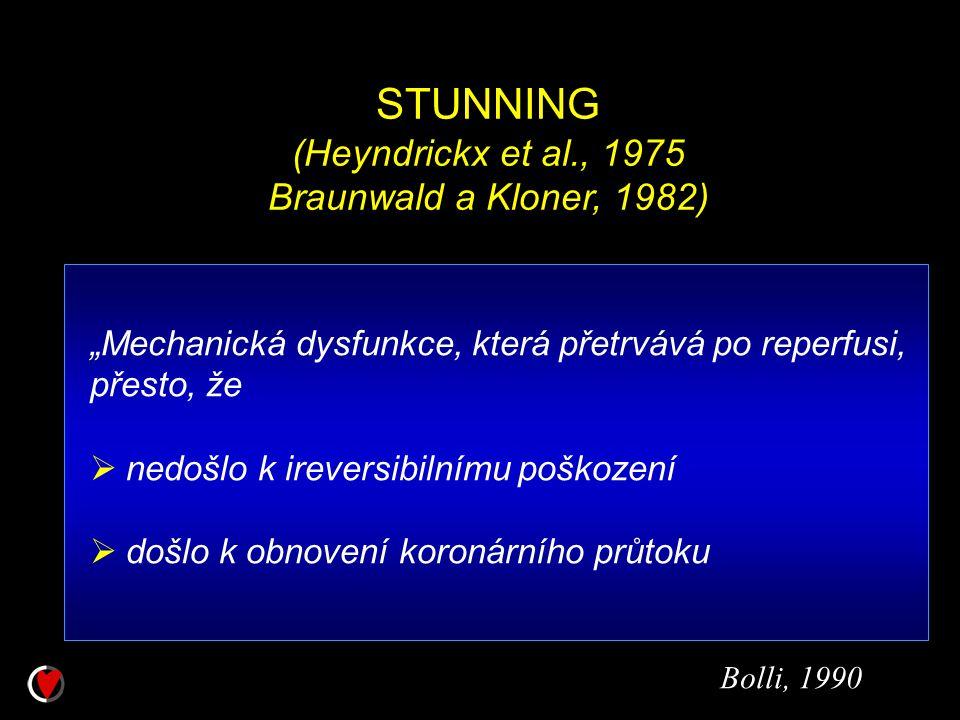 STUNNING (Heyndrickx et al., 1975 Braunwald a Kloner, 1982)