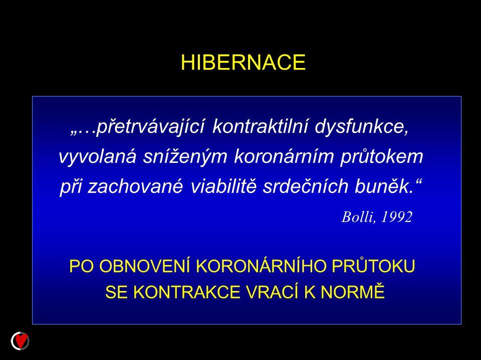 """HIBERNACE """"…přetrvávající kontraktilní dysfunkce,"""