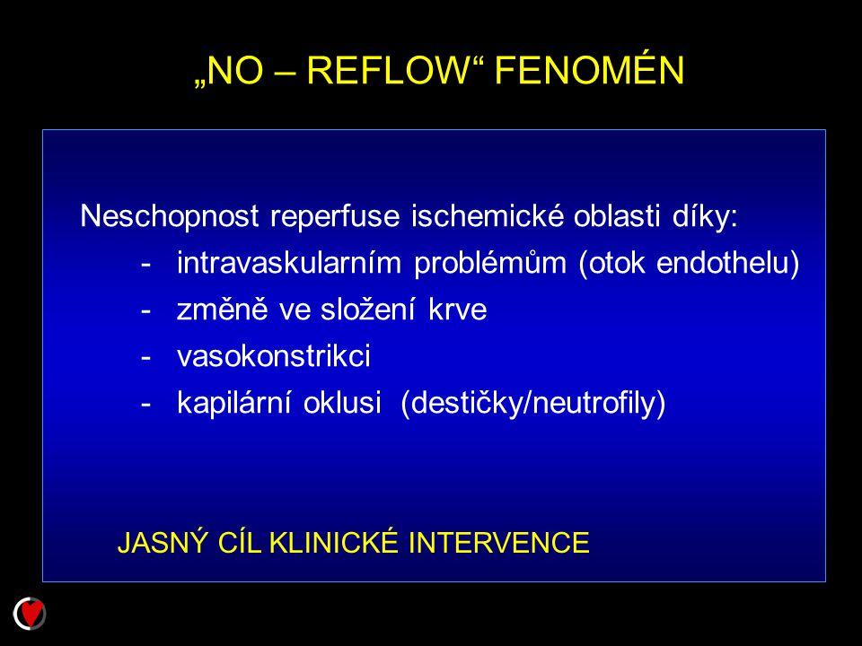 """NO – REFLOW FENOMÉN Neschopnost reperfuse ischemické oblasti díky:"