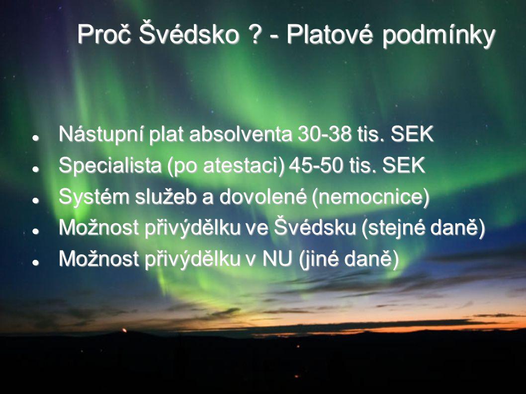 Proč Švédsko - Platové podmínky