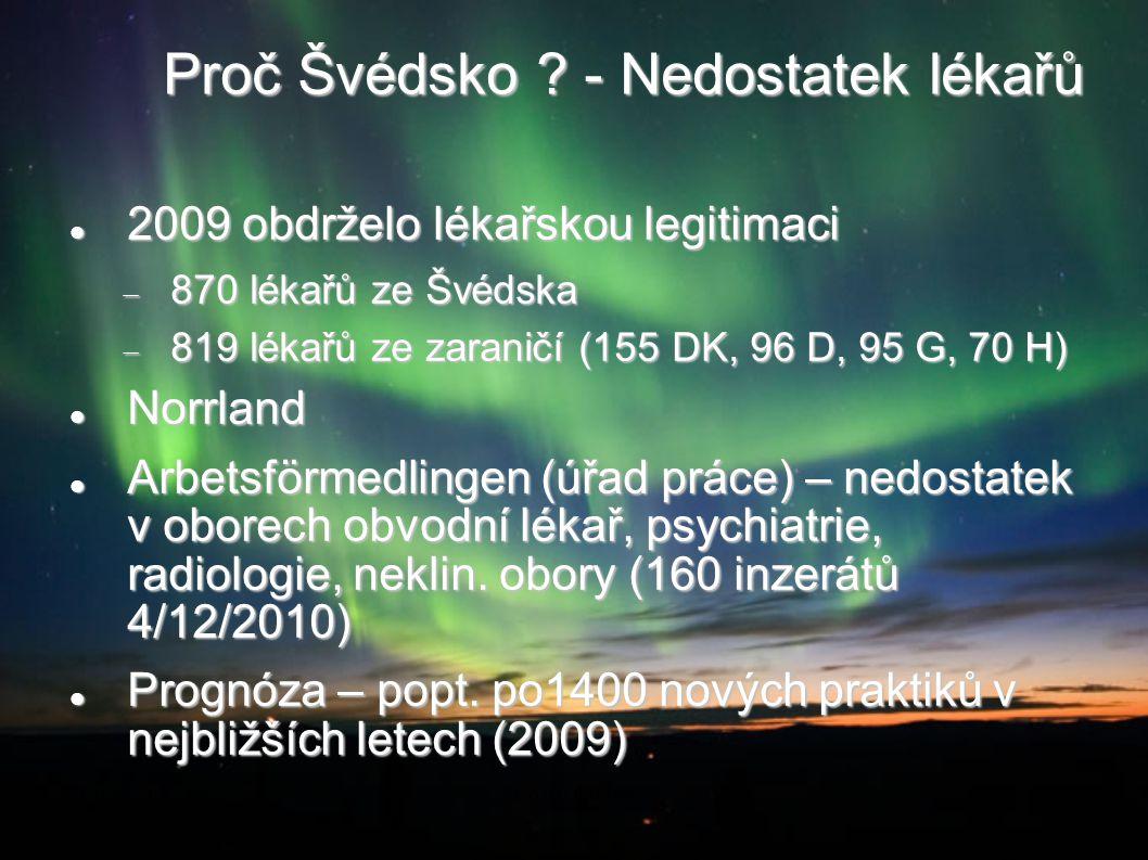 Proč Švédsko - Nedostatek lékařů