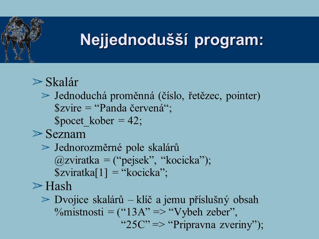 Nejjednodušší program:
