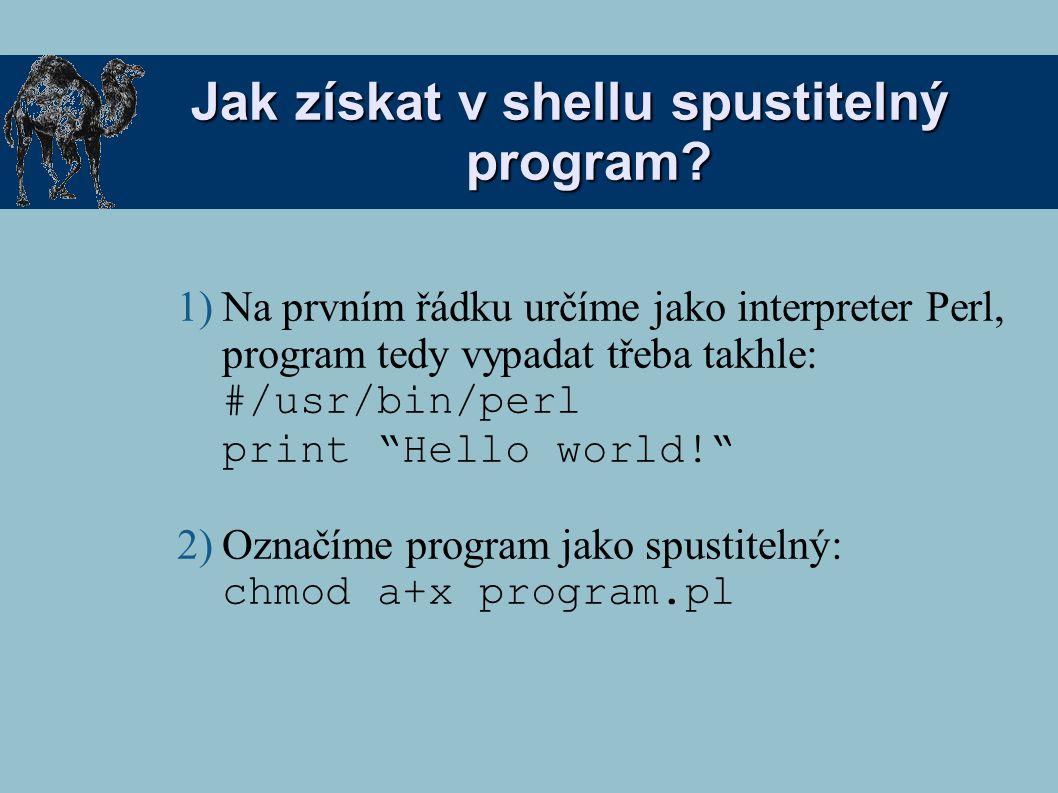 Jak získat v shellu spustitelný program