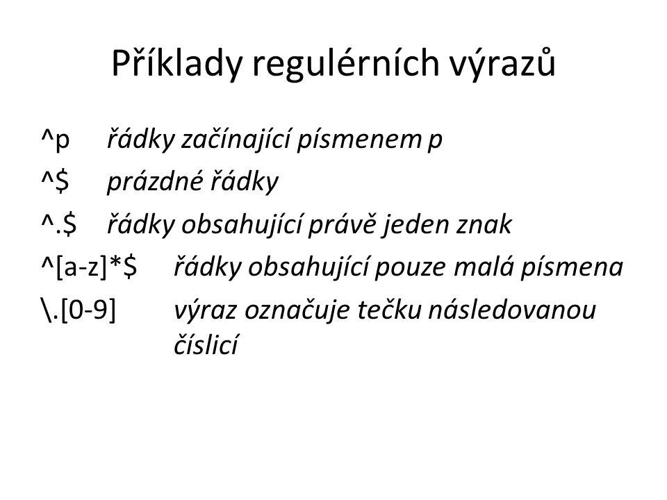 Příklady regulérních výrazů