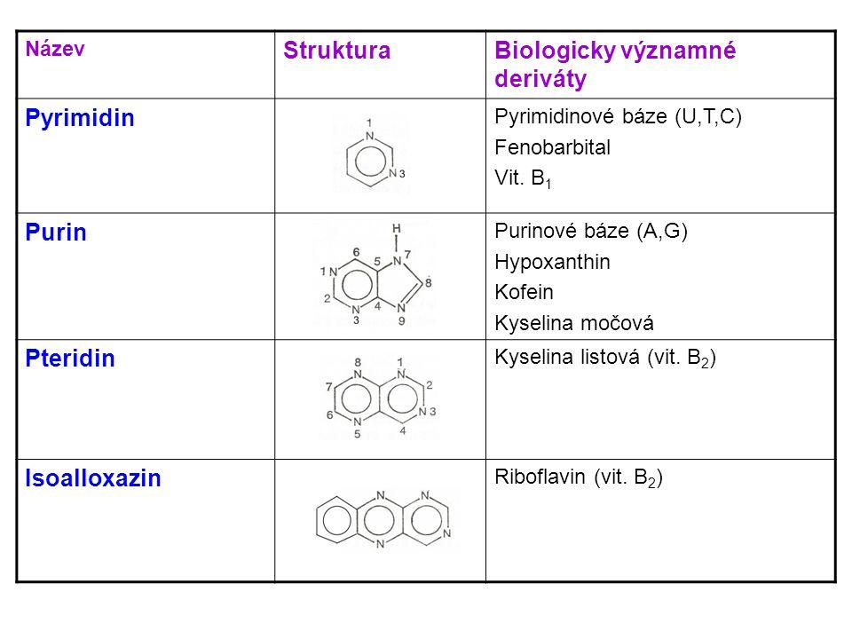 Biologicky významné deriváty Pyrimidin
