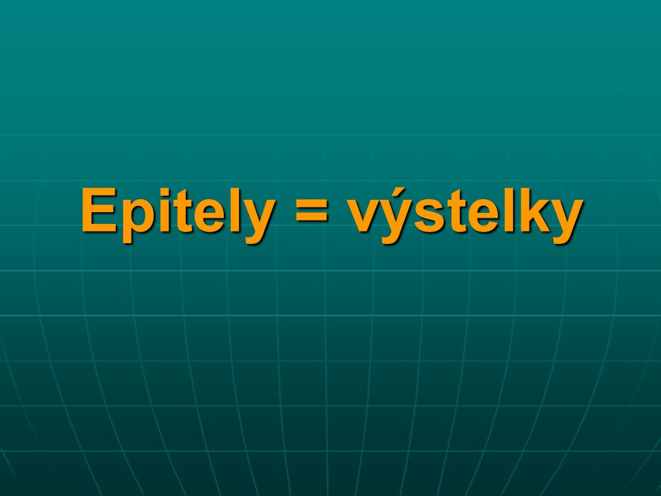 Epitely = výstelky