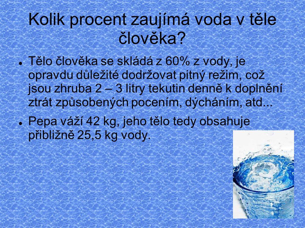 Kolik procent zaujímá voda v těle člověka