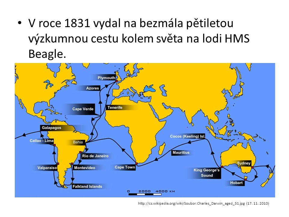 V roce 1831 vydal na bezmála pětiletou výzkumnou cestu kolem světa na lodi HMS Beagle.
