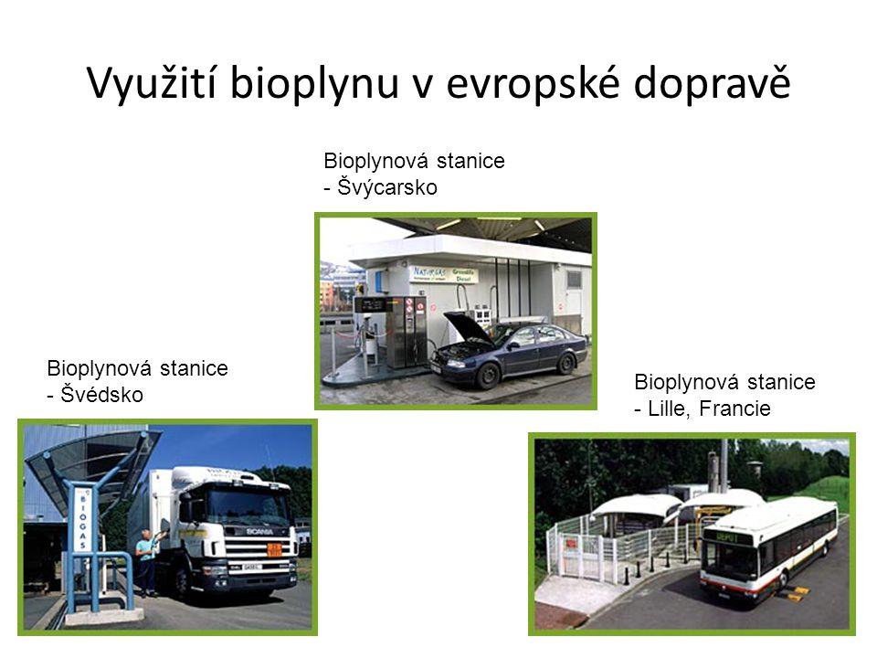 Využití bioplynu v evropské dopravě