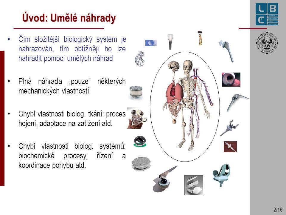 Úvod: Umělé náhrady Čím složitější biologický systém je nahrazován, tím obtížněji ho lze nahradit pomocí umělých náhrad.