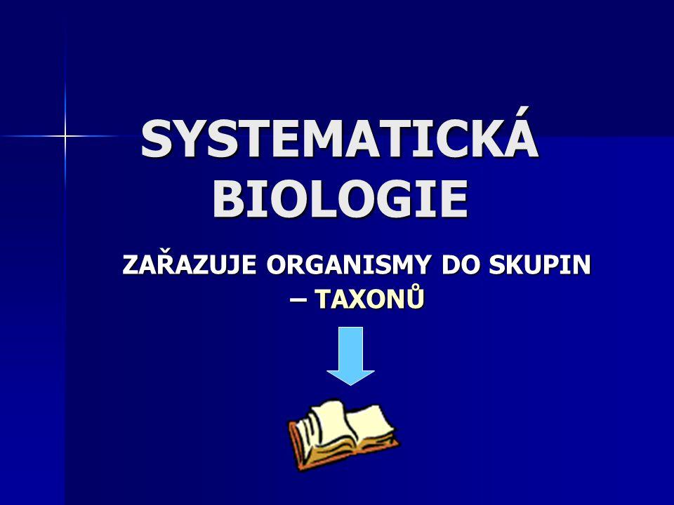 SYSTEMATICKÁ BIOLOGIE