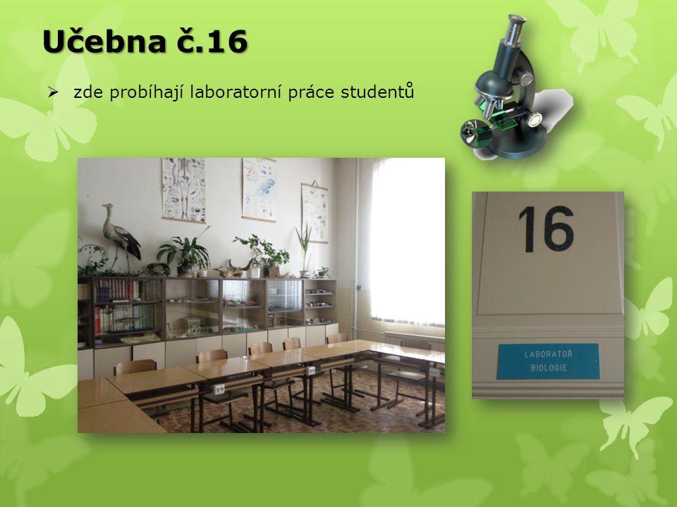 Učebna č.16 zde probíhají laboratorní práce studentů