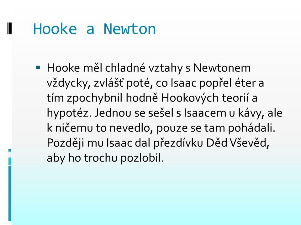 Hooke a Newton