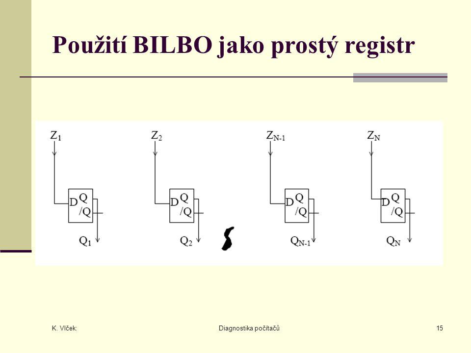 Použití BILBO jako prostý registr