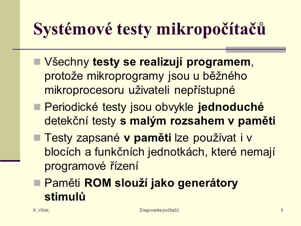 Systémové testy mikropočítačů
