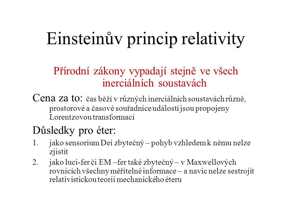 Einsteinův princip relativity