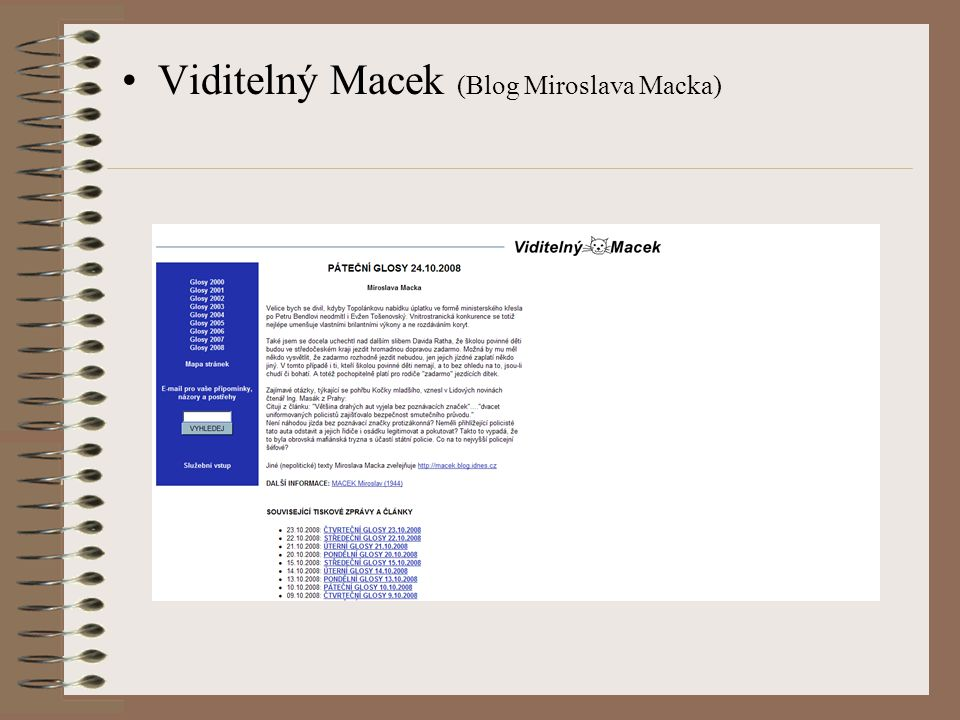 Viditelný Macek (Blog Miroslava Macka)